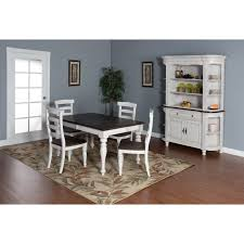 dining room set with hutch 5 piece extension dining table set with ladderback chairs by sunny