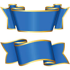 blue and gold ribbon 2 gold trimmed blue ribbon banners set welovesolo