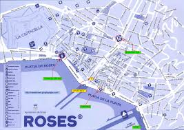 Girona Spain Map by Rosesforrent2