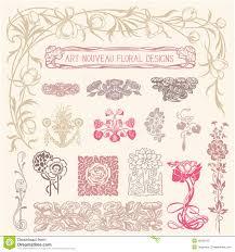 nouveau floral ornaments stock vector image 39292123