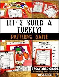pattern games for third grade patterns thanksgiving game thanksgiving math multiplication and math