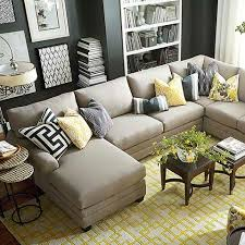 large sectional sofa with ottoman best 25 u shaped sectional ideas on pinterest u shaped