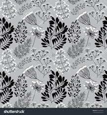 seamless pattern floral elements berry dill stock vector 339635285
