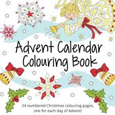 amazon advent calendar colouring book 24 numbered christmas
