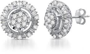 diamond stud earings 92 on 1 00 cttw diamond stud earrings groupon goods