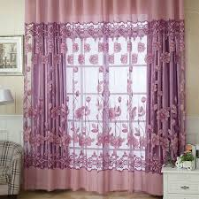 Modern Floral Curtain Panels Aliexpress Com Buy 2016 New Modern Floral Sheer Tulle Voile Door