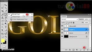 cara membuat logo bercahaya di photoshop cara membuat tulisan efek gold dengan photoshop video tutorial89