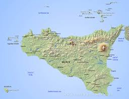 Italy On Map Sicily On Map Of Italy You Can See A Map Of Many Places On The