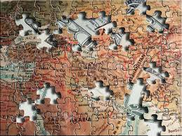 Map Of The Middle East by A Puzzle Map Of The Middle East Sits Above Us Dollars Stock Photo