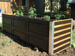 repurposed cabinets to garden planter boxes hometalk