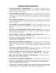 guidelines for what to include in a resume acceptable resume fonts