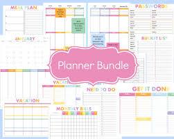 printable january 2016 weekly planner printable planner kit 2016 weekly planner daily planner monthly