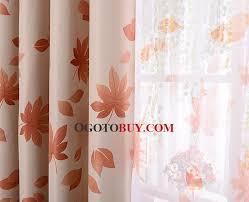 Orange Thermal Curtains Orange Yellow Leaf Wonderful Discount Thermal Curtains Buy Multi