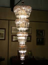 Art Deco Style Light Fixtures by Art Deco Style Multi Layered Swarofski Crystal Chandelier Extra