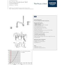 Grohe Single Handle Bathroom Faucet Grohe 19576001 Concetto Polished Chrome One Handle With Handshower