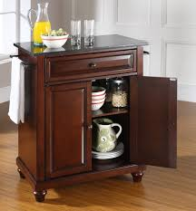 buy newport natural wood top kitchen island in classic cherry