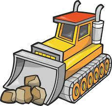 excovator clipart bulldozer pencil and in color excovator