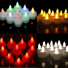 floating led tea lights colorful waterproof tealight led floating 12 white amber led tea