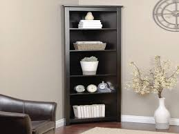 corner bookcase with doors furniture home shelves cabinets bookcases black corner bookshelf