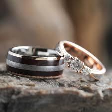 wooden wedding rings wood wedding band sets wooden wedding ring sets wedding