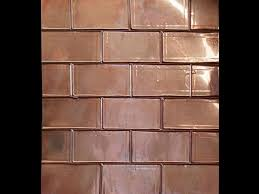 copper backsplash tiles for kitchen design brick backsplash for your home copper sheets copper and