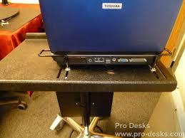 rolling computer stand pro desks rolling pro ii deluxe