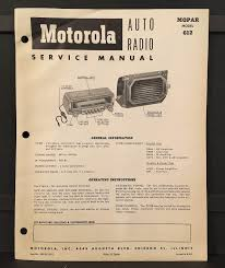 motorola mopar model 612 auto radio service manual dodge d50 d51