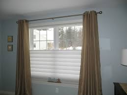 Top And Bottom Rod Curtains Accessories Comely Image Of Bedroom Decoration Using Brown Copper