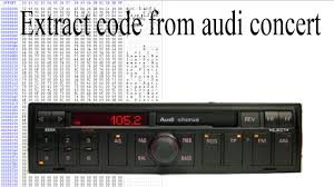audi concert 2 aux input extract code from audi concert