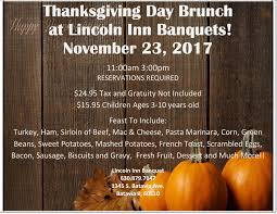 thanksgiving buffet 2017 the lincoln inn banquets receptions
