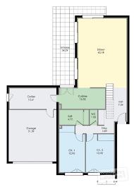 Plan De Maison En Longueur Villa Contemporaine 1 Détail Du Plan De Villa Contemporaine 1
