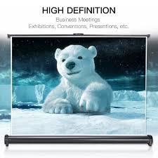 amazon com projector screen auledio portable 50 inch 16 9 manual