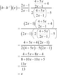 algebra inverse functions