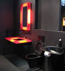 amazing black theme bathroom interior with black ceramic idea and