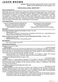 Legal Secretary Resume Paralegal Resume Template Paralegal Resume Example