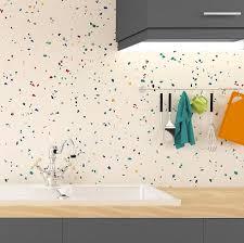 modele papier peint cuisine faut il oser le papier peint en cuisine madame figaro