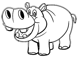 hippo color kids coloring europe travel guides com