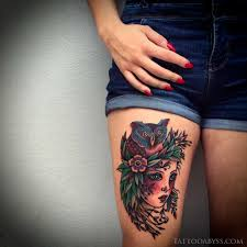 tattoo girl owl owl girl color traditional tattoo tattoo abyss