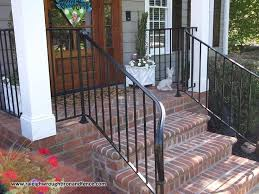 bedroom amazing wrought iron railings metal porch railing rdi for