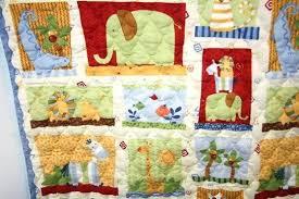 Crib Comforter Dimensions Elephant Baby Crib Quilt Pattern Infant Boy Crib Quilts Cotton