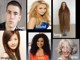 hair style esl body features esl vocabulary