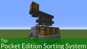 Minecraft Furniture Ideas Pe How To Build A Sorting System In Minecraft Pe Minecraft Ideas