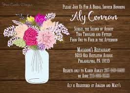 jar bridal shower invitations bridal shower the simple things