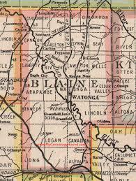 Map Oklahoma Blaine County Oklahoma 1922 Map