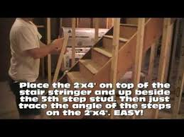 basement framing how to frame a basement stairway youtube