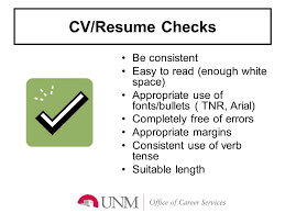 resume white space writing an effective cv ppt download