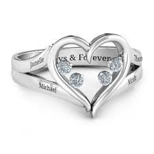 mothers day ring with birthstones mothers rings personalizable and engravable jewlr