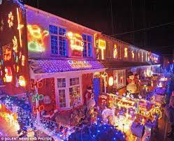 houses with christmas lights near me thousands cram into residential close for christmas lights switch on