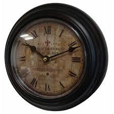 horloge cuisine horloge murale en fer avec vitre en plexiglass pendule de cuisine