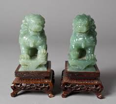 foo dogs for sale pr carved spinach jade foo dogs